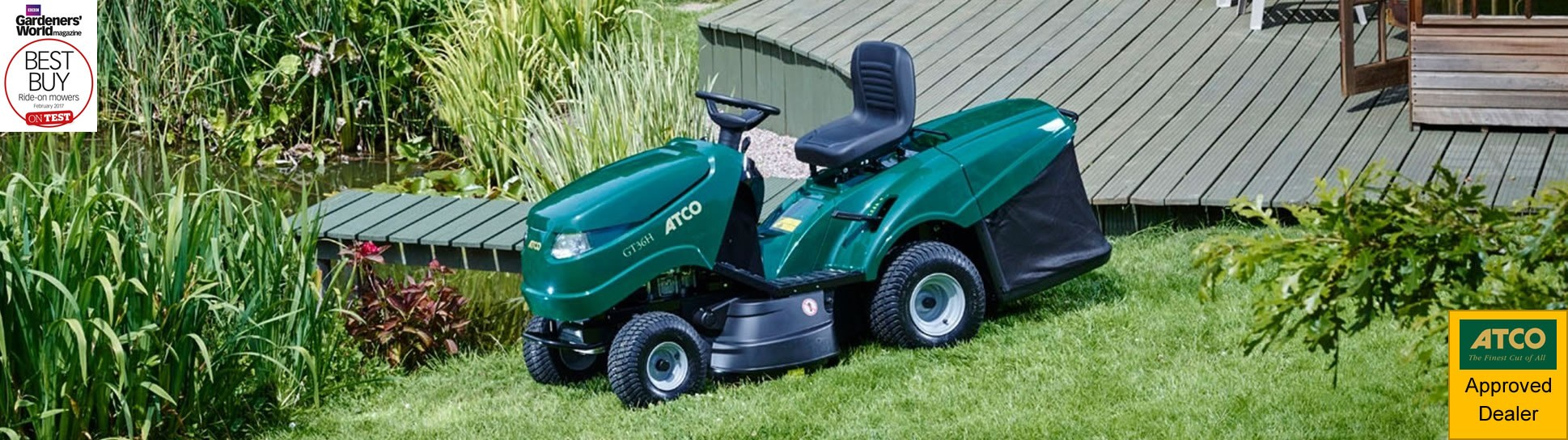 The award winning GT36H from your local ATCO approved dealer